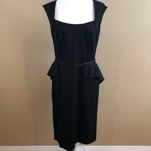 WHBM Square Neck Peplum Sheath Dress